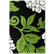 wohnzimmer teppichläufer grün florale muster my906g 80x150 cm