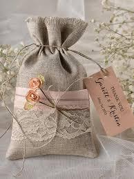 Custom Listing 20 Peach Rustic Favor Bag Wedding Lace Thank You Bags Gift
