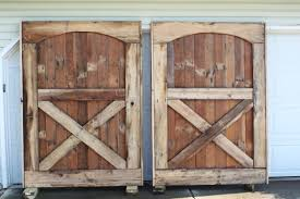 Recycled Two Barn Doors With X Half Panel For Rustic Style Interior Door Dark Grey Concrete Floor