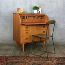 vintage bureau mid century vintage roll top bureau desk pedlars