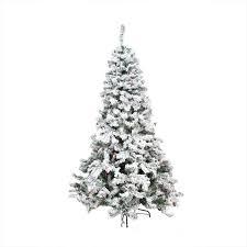 Flocked Christmas Tree Walmart by 4 5 U0027 Pre Lit Heavily Flocked Pine Medium Artificial Christmas Tree