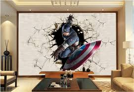 3d view wallpaper captain america photo wallpaper silk mural large