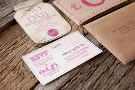 Burlap Pink Monogram Wedding Invitation RSVP