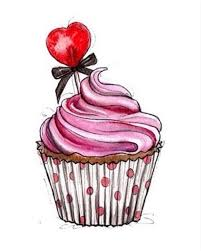 pink cupcake made with strawberries raspberries and love D Cake Design Love
