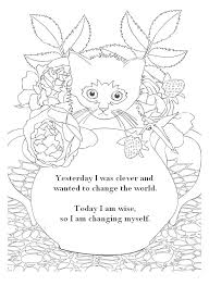 Zen Quote Coloring Pages Adult Page Quotes Yesterday I Was Clever