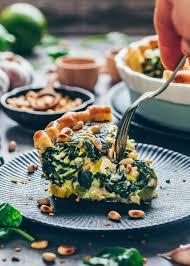 vegane spinat quiche