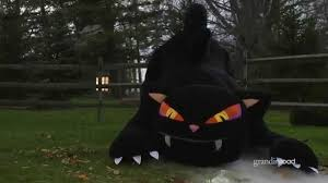 Halloween Blow Up Decorations by Inflatable Furry Black Cat Youtube