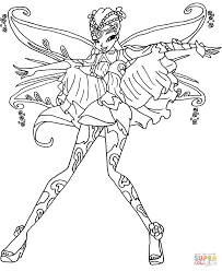 Download Coloring Pages Winx Club Free