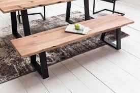 wohnling esszimmer bank gaya baumstamm massivholz akazie 160 x 45 x 40 cm robuste naturholz küchenbank mit hoher stabilität echtholz essbank mit