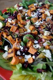 Japanese Pumpkin Salad Recipe by Autumn Chop Salad With Roasted Beets Sweet Potato And Apple