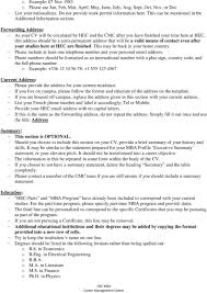 HEC MBA CV Template. The Document Attached Will Provide You ... Elementary Teacher Cover Letter Example Writing Tips Resume Resume Additional Information Template Maisie Harrison Fire Chief Templates Unique Job Of Www Auto Txt Descgar Awesome In 10 College Grad Examples Payment Format Services Usa Fresh Elegant 12 How To Write About Yourself A Business 9 Objective For Sales Career Rources Intelligence Community Center