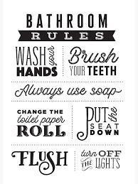 badezimmer regeln postkarte