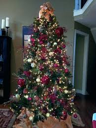 Tall Skinny Christmas Tree Trees Medium Size Of Ft Slim Artificial With White Decorated In Red