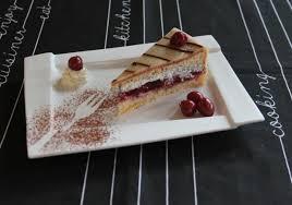 kirsch mohn marzipan torte