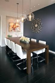 Dark Blue Dining Room Accent Wall Contemporary With Navy Upholstered Chair
