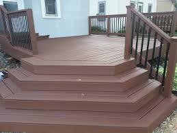 Deck Scrub Brush Home Depot by Applying Behr Deck Over To A Wood Deck Small Change In My Deck