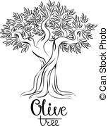 Olive tree vector illustration Olive oil Vector olive tree for labels pack