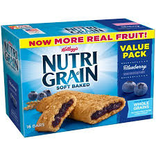 Kelloggs Nutri Grain Blueberry Soft Baked Breakfast Bars Value Pack 13 Oz 16 Count
