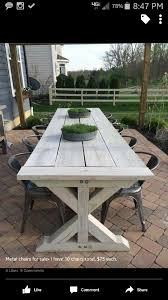 Plans For Wood Deck Chairs by Best 25 Outdoor Farm Table Ideas On Pinterest Outdoor Table