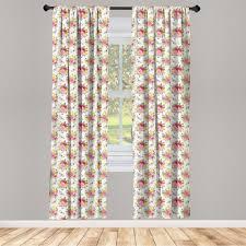gardine fensterbehandlungen 2 panel set für wohnzimmer schlafzimmer dekor abakuhaus shabby chic botanischer garten kaufen otto