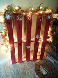 Pallet Stocking Holder I Made Cost Less Than 20 For Paint String Of Lights
