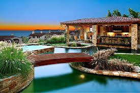 Stunning Images Mediterranean Architectural Style by 25 Fascinating Pool Bridge Ideas That Leave You Enthralled