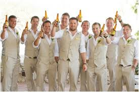 2017 Autumn Spring Groom Wear Beach Wedding Men Suits Waistcoat And Pants Groomsmen Suit