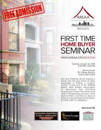 First Time Home Buyer Seminar – AREAA Boston