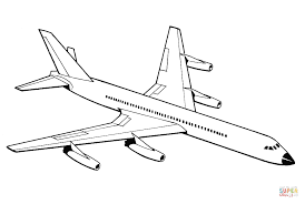 Click The Airplane Coloring Pages