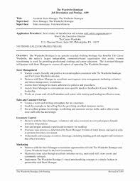 Retail Manager Resume Summary Fresh Sample Resumes Assistant New Of