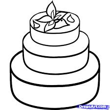 how to draw a wedding cake step 6