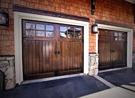 Interior Rustic Wooden Garage Doors Design