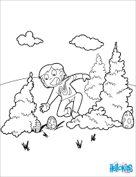 Hidden Easter Eggs Coloring Page
