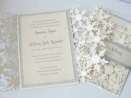 Winter Wedding Invitation Snowflake Invite December Wonderland