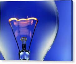 electric light bulb photograph by lawry