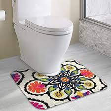 hoklcvd personalisierte toilette teppich schöne blumen wc u