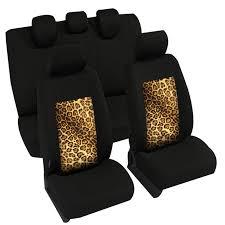 housses de sieges housses auto universelles 2 sièges avant impression leopard