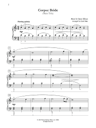 Corpse Bride Tears To Shed by Corpse Bride Piano Piano Ideas
