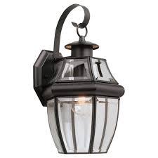 sea gull lighting lancaster 1 light black outdoor wall lantern