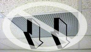 Drop Ceiling Vent Deflector ceiling air diverter air diffuser air deflector