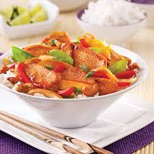 cuisine thailandaise recettes sauté de poulet aigre doux à la thaï recettes cuisine et