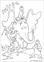 Seuss Horton Coloring Pages 29 In This Page You Can Find Free Printable Dr Lot Of Collection