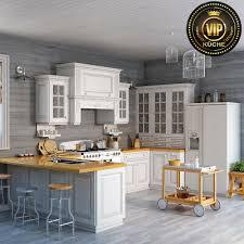 landhausküche provence weiße u form küche mit theke massivholz meterpreis ebay