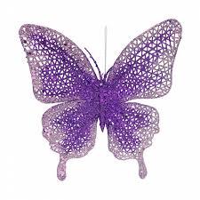 Kmart Christmas Trees Jaclyn Smith by Jaclyn Smith Purple Light Purple Glitter Butterfly Christmas