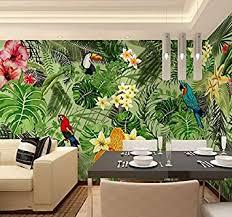 huangyahui wandbilder 3d tropical rainforest cafe grünen