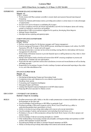 Finance Supervisor Resume Samples   Velvet Jobs 8 Amazing Finance Resume Examples Livecareer Resume For Skills Financial Analyst Sample Rumes Job Senior Executive Samples Project Manager Download High Quality Professional Template Financial Advisor Description Finance Sample Velvet Jobs Arstic Templates Visualcv Services Example Auditor To Objective Analyst Sazakmouldingsco