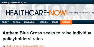 Blue Cross Anthem premiums may rise as much as 35%