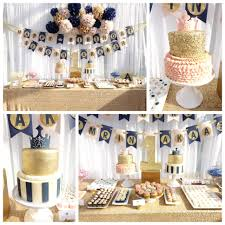 Baptism Decoration Ideas For Twins by Pink Gold Navy Boy Twin 1st Birthday Party Cake Dessert Table