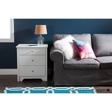 South Shore Vito 6 Drawer Dresser by Vito Transitional 2 Drawer Nightstand With Charging Station Pure