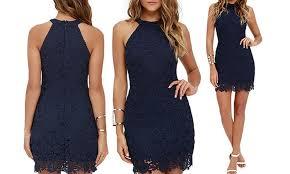 77 bodycon sleeveless lace dress groupon goods